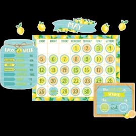 Lemon Zest Calendar Bulletin Board Set