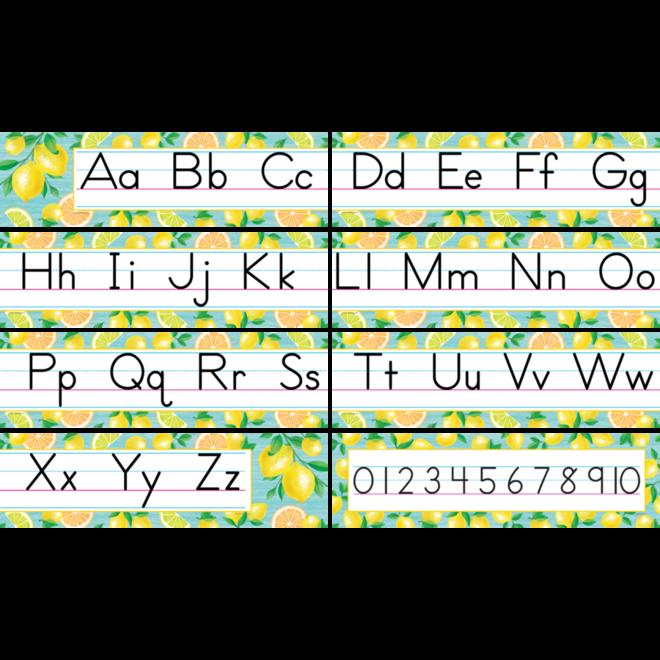 Lemon Zest Traditional Printing Mini Bulletin Set