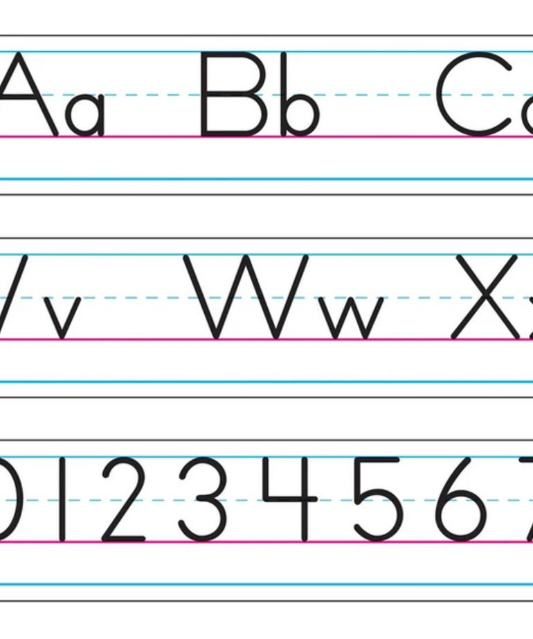 Basic Alphabet Zaner-Bloser Cursive
