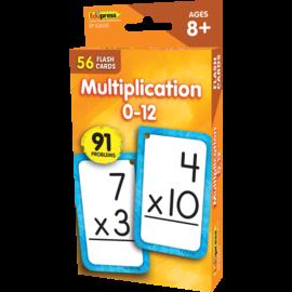 Multiplication 0-12 Flashcards