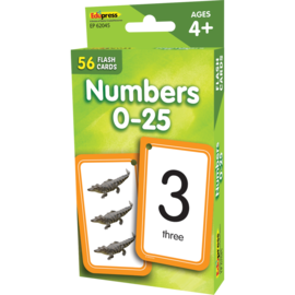 Numbers 0-25 Flashcards