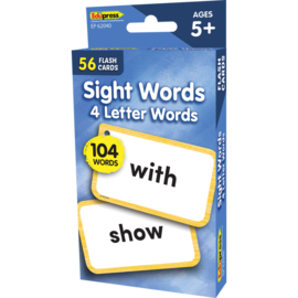 Sight Words Flashcards - 4 Letter Words
