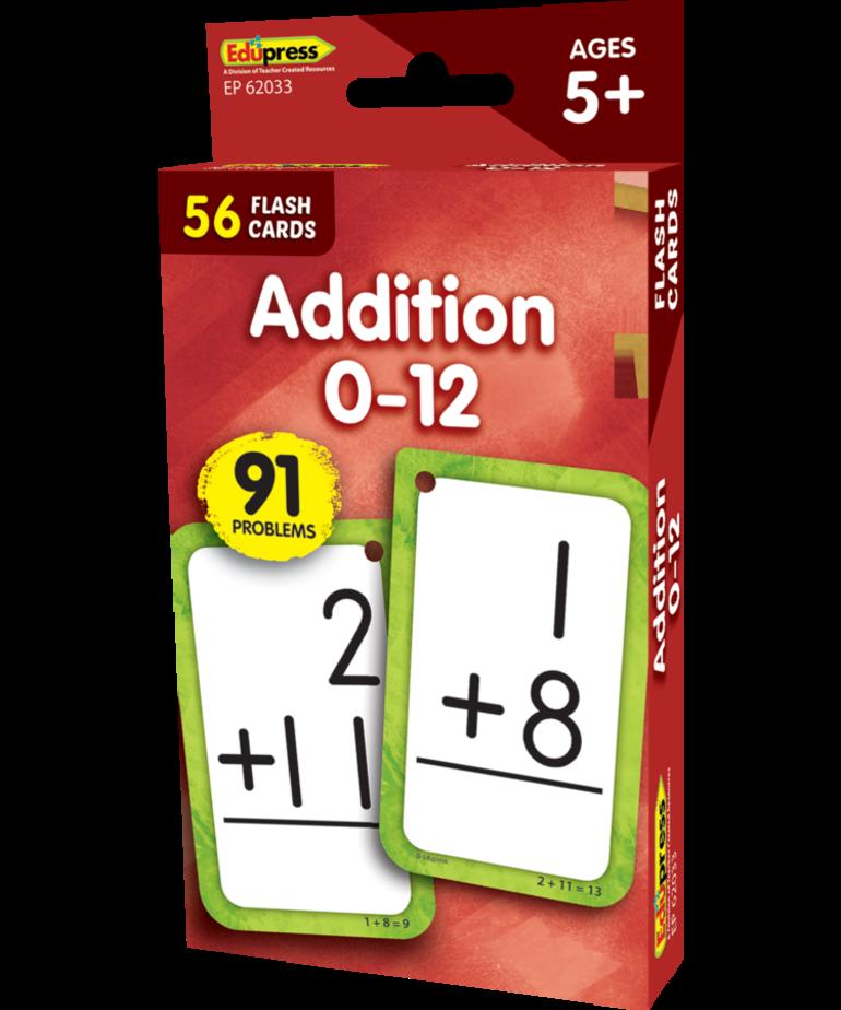 Addition 0 - 12 Flashcards