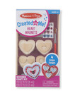 Created By Me Heart Magnets