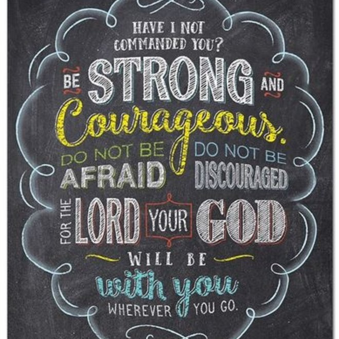 Joshua 1:9 (Rejoice)-Poster