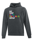 """Eat, Sleep,"" Teacher Sweatshirt"