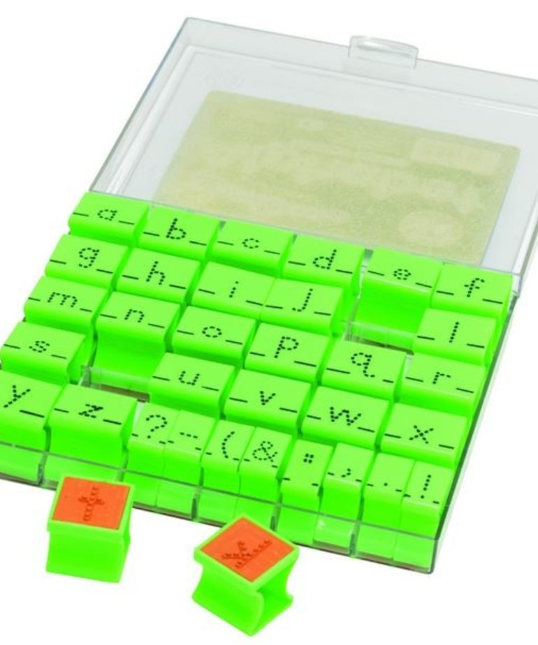 Alphabet Stamps-Lowercase Dotted Lines