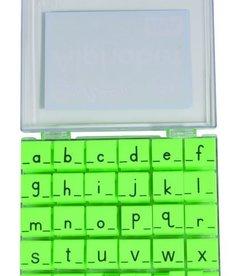 Alphabet Stamps Lowercase -Manuscript