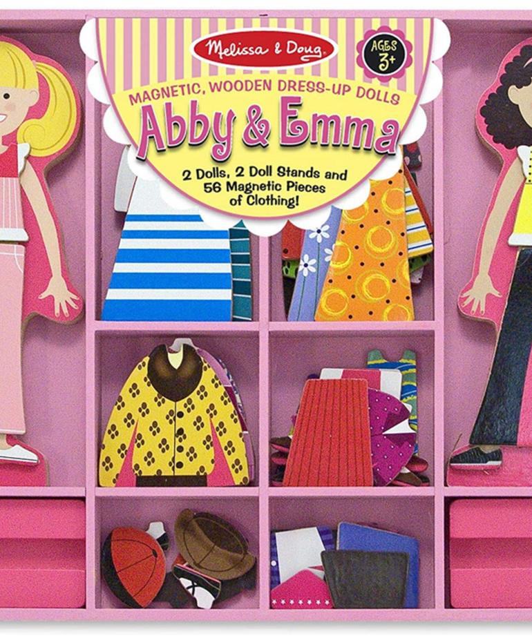Melissa & Doug Abby & Emma Magnetic Dress Up Dolls