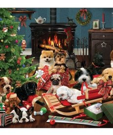 Cobble Hill Christmas Puppies Puzzle 500pc