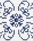 Diamond Dotz-Blue on White