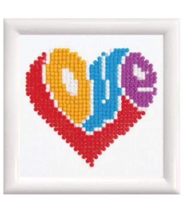 Diamond Dotz Love (framed)