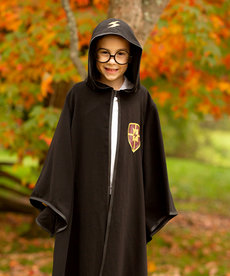 Wizard Cloak with Glasses Black (5-6)