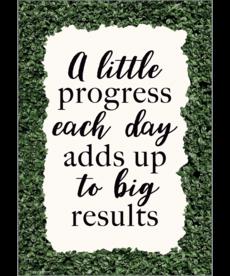A Little Progress Each Day Positive Poster