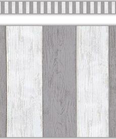 Modern Farmhouse Grey Stripes Staight Border