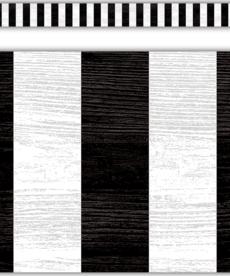 Modern Farmhouse Black Stripes Straight Border