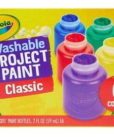 Crayola Kids Washable Paint 6ct 2oz