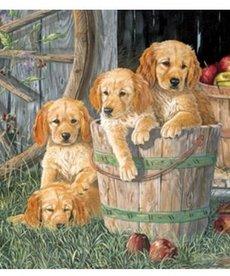 Cobble Hill Puppy Pail Family Puzzle 350pc