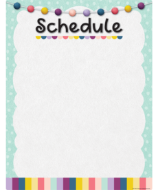 Oh Happy Day Write On/Wipe Off Schedule Chart