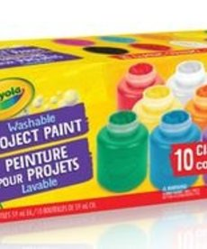 Crayola Washable Project Paint 10ct Classic Colors