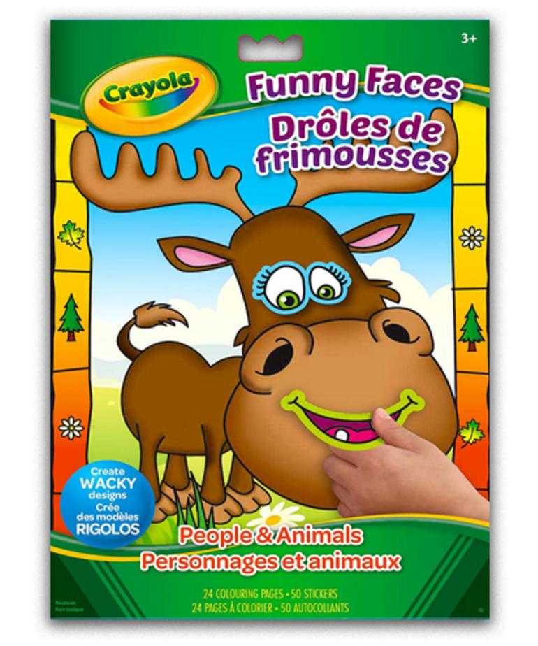 Crayola Funny Faces Coloring Book