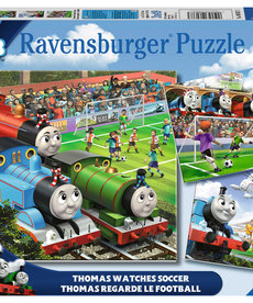 Ravensburger Thomas the Train  Watches Soccer 3X49pc Puzzle