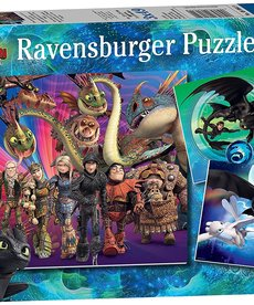 Ravensburger How to Train Your Dragon 3- 3X49 puzzles