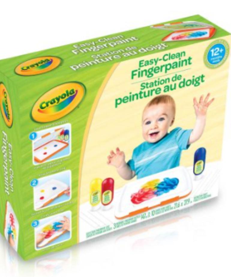 Crayola Easy Clean Fingerpaint Set