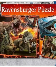 Ravensburger Jurassic World: Instinct to Hunt 3X49 Puzzle