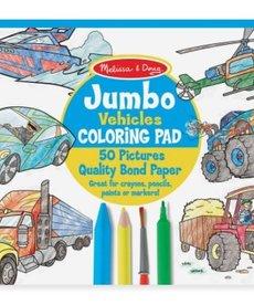 Melissa & Doug Jumbo Coloring Pad- Vehicles