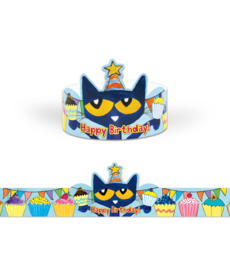 Pete the Cat Birthday Crowns