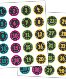 Chalkboard Bright Number Stickers