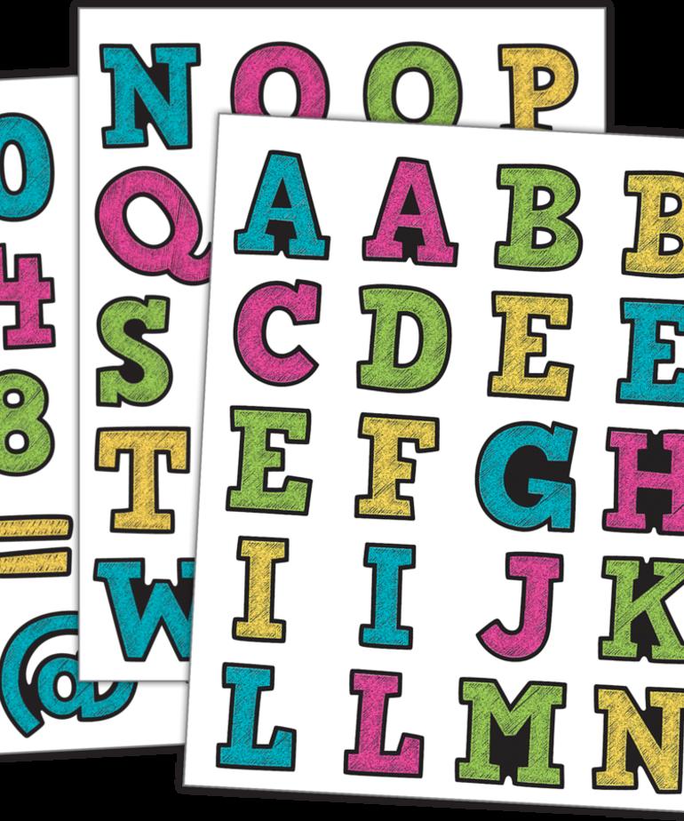 Chalkboard Bright Alphabet Stickers