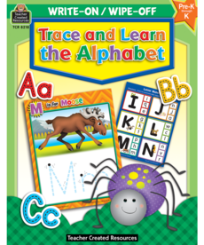 Trace and Learn Alphabet Write-On/Wipe-Off Book