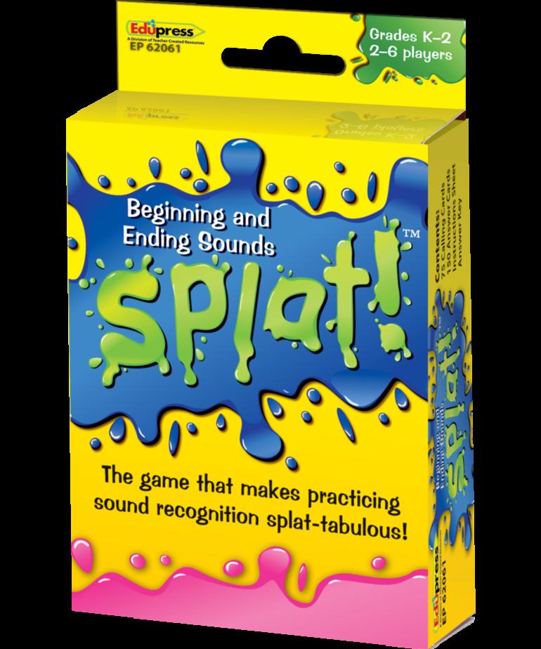 Beginning and Ending Sounds Splat Game