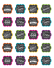 Chalkboard Brights Praise Stickers