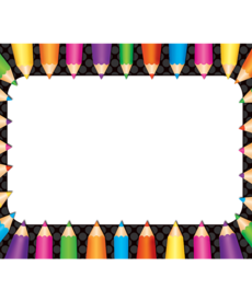 Colored Pencils Name Tags/Labels