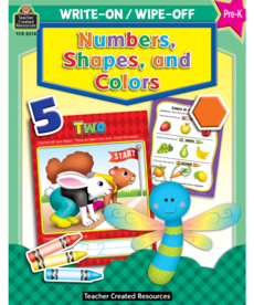 Colors & Shapes Wipe Off Book