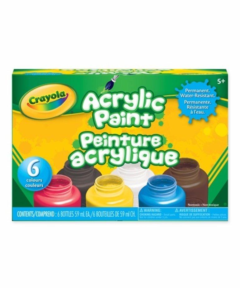 Crayola Acryllic Paint-6 count