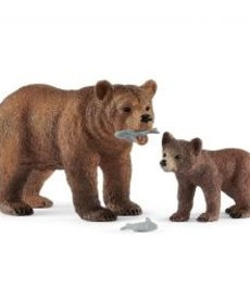 Schleich Grizzly with Cub