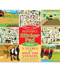 Melissa & Doug Reusable Sticker Pad-Farm