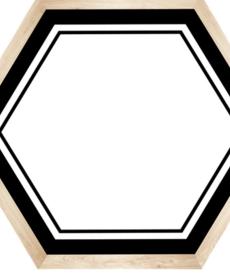 Simply Boho Hexagon Nametags