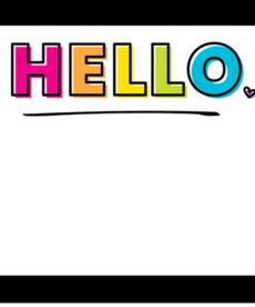 Kind Vibes Hello Name Tags