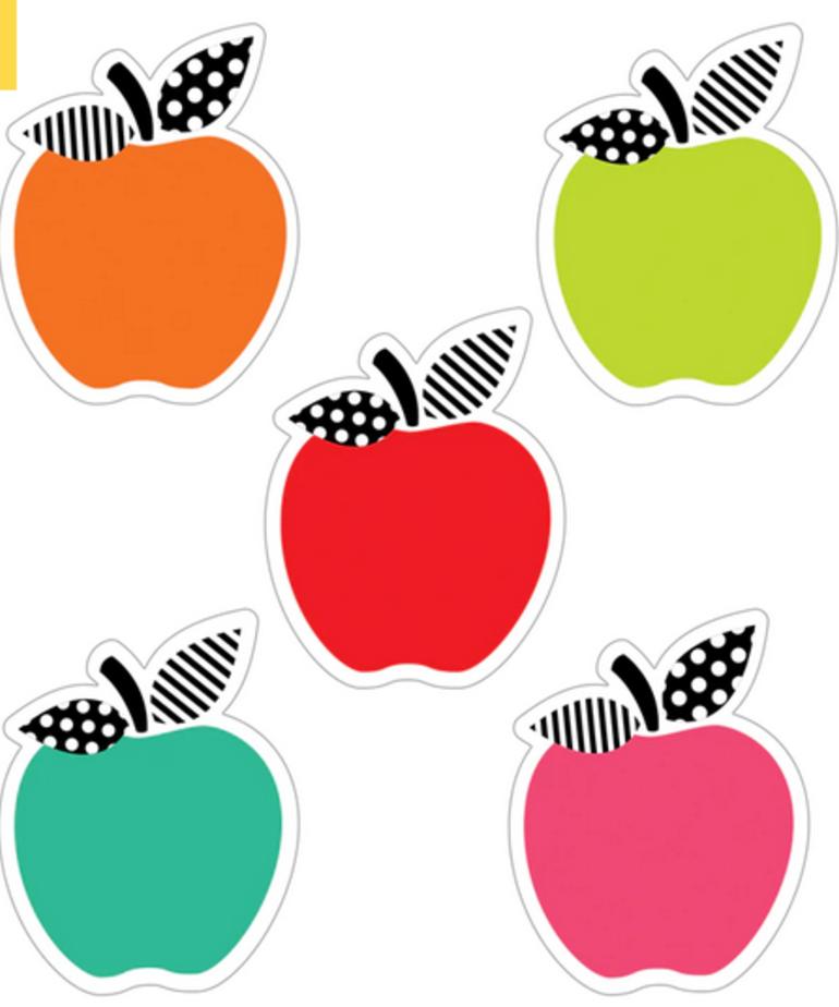Black, White & Stylish Apple Mini Accents