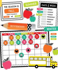 Black, White & Stylish Brights Calendar