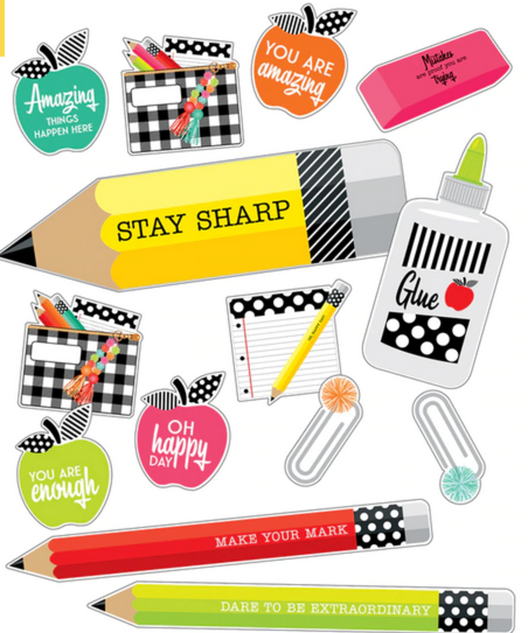 Black,White & Stylish Brights Stylish Supplies