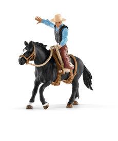 Schleich Saddle Bronc Riding Cowboy