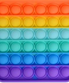 Push Bubble Rainbow Square