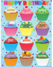 Cupcakes Birthday Chart