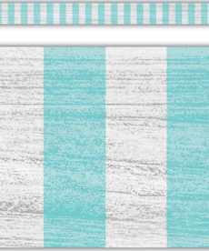 Vintage Blue Stripes Straight Border